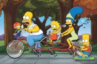Simpsons Tandem Cycling