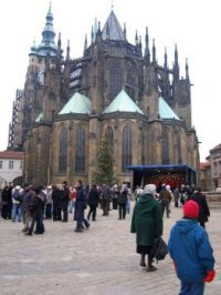 The cathedral in Prague Castle, the Czech Republic