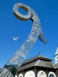 Viking ship prow sculpture
