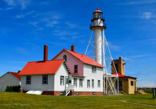 Whitefish Point Lighthouse on Michigan's Great Lake Superior