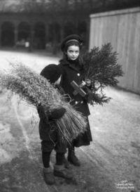 Vintage Photo, Children at Christmas