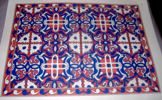 Art - Tile - Red, White & Blue