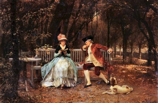 Louis Emile Adan (1839-1937) - The Suitor