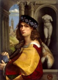 Portrait of a Young Man Wearing a Fur Cape