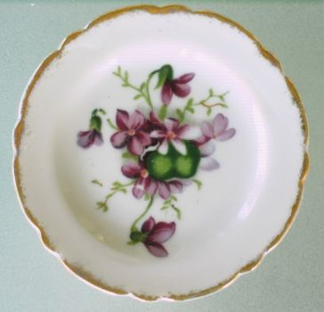 Mini Plate with Violets