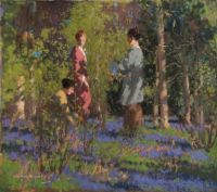 George Henry (Scottish, 1858–1943), Picking Bluebells