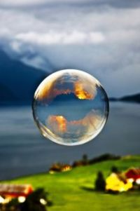 A bubble in the air
