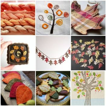Handmade Autumn Mosaic by Hand Knitted Things on flickr