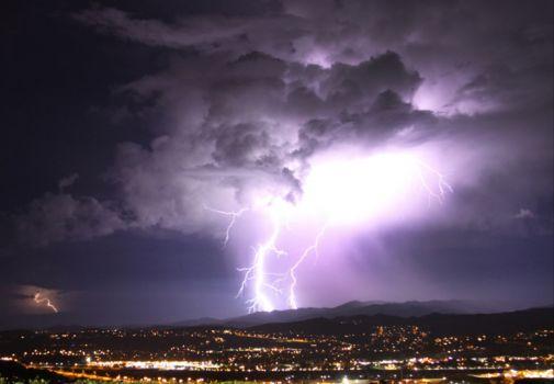 Lightning in California