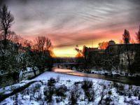 Munich,Isar,Winter
