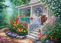 Pretty porch and flowers!