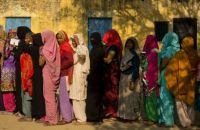 Women Voting in Uttar Pradesh