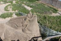 Sand sculpture at Durban beachfront