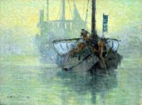1904_Hachiro Nakagawa  Morning on the River