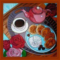 Breakfast in bed . . . . .