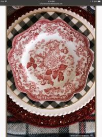 Red-Black Place Setting