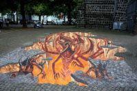 diablo 3D street painting