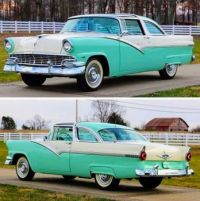 1956 Ford Fairlane  Crown Victoria Sunliner glass top!    bandit...