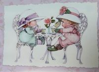 """"""" Everything is better with Tea and Cake """"           Long time retired artist Ruth Morehead"""