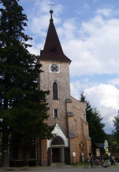 Kostel na Kvilde - church in Kvilda