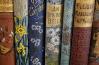Whimsical And Graceful, Vintage Book Spines....