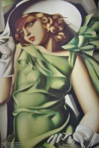Art - Green Lady From a Magazine Advert