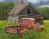 Old Chevy Truck and Abandoned Farm House