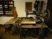 Old times museum Aalten.  (pity, bit dark!)  Workshop of a saddle-maker