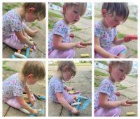 Maddie Got Some Sidewalk Chalk!
