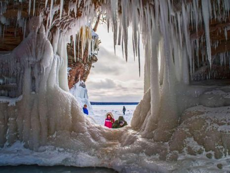 Ice Caves at Apostle Islands National Lakeshore