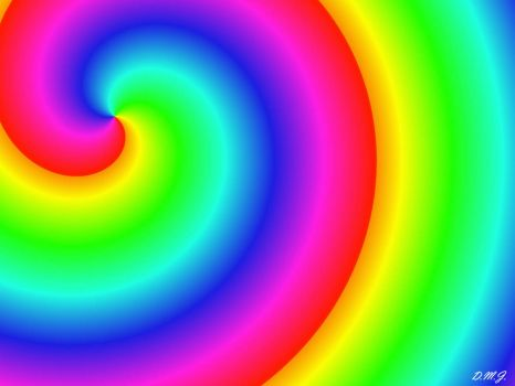 Spiral Rainbow (Sunglasses recommended) :)) I