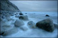 Sandown misty rocks