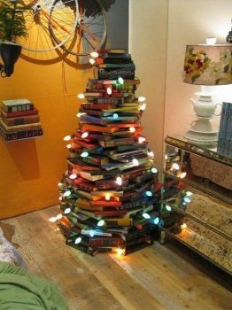 you don't need a tree if you have books and lights