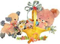 Spring basket for a child