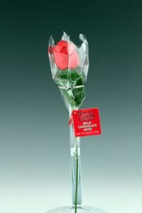 Hot Stuff chocolate rose, red variant