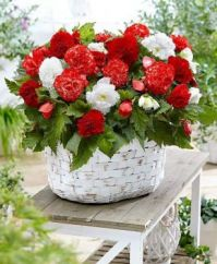 Červenobílá kytice