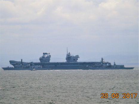 Aircraft Carrier HMS Queen Elizabeth and Type 23 Frigates HMS Iron Duke & HMS Sutherland