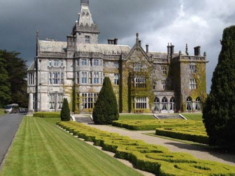 Adare Manor in County Limerick, a calendar house, 365 windows, 52 chimneys, 12 staircases, you get the picture....