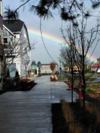 rainbow while its raining in oregon