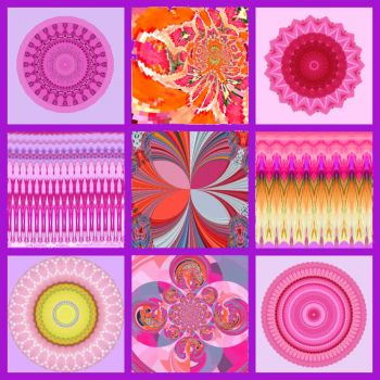 Pink Variety Collage: Medium