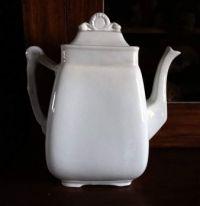 White Ironstone Teapot