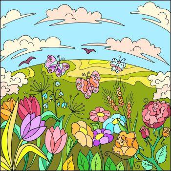 Butterflies & Flowers
