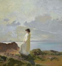 "Sir William Orpen, ""On the Cliffs, Dublin Bay"""