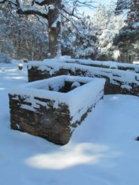 Snow in the cemetery