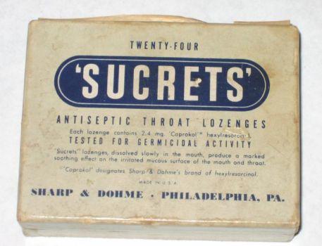 Old Sucrets Box