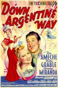 DOWN ARGENTINE WAY - 1941 POSTER  BETTY GRABLE, DON AMECHE, CARMEN MIRANDA