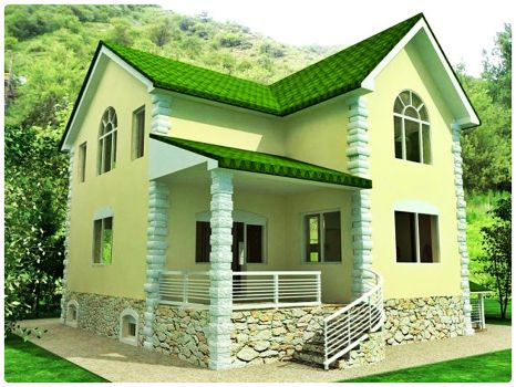 Jigsaw Puzzle Small House With Green Roof 300 Pieces