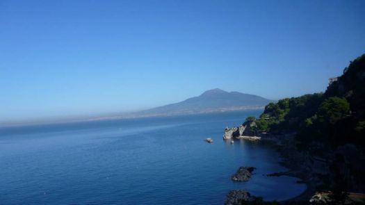 Mount Vesuvius from the road to Sorrento