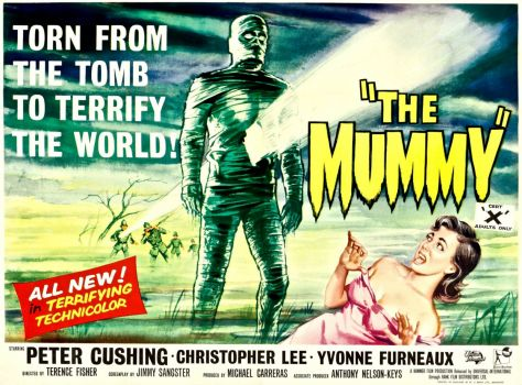 THE MUMMY - 1959 MOVIE POSTER  PETER CUSHING, CHRISTOPHER LEE