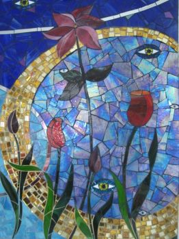 Abstract Glass Mosaic